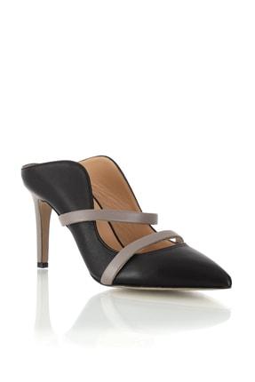 POLETTO Kadın Ayakkabı 4292 90 Napa Siyah Napa Gul Kurusu R16-(8.5 cm)