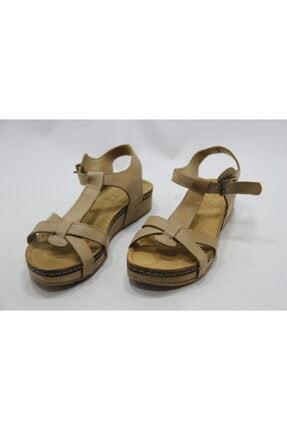 İnci Kadın Kahverengi Hakiki Deri Sandalet