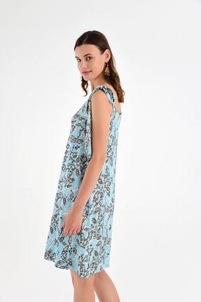 Laranor Kadın Desen-9 Omuzdan Bağlamalı Desenli Elbise 20L6839