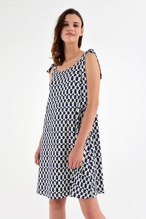 Laranor Kadın Desen-1 Omuzdan Bağlamalı Desenli Elbise 20L6839