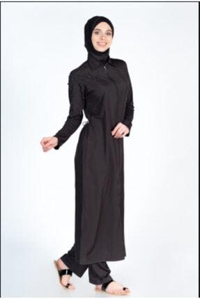 ALFASA Kadın Siyah Uzun Kollu Tesettür Mayo
