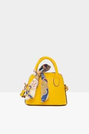 Bagmori Sarı Kadın Şallı Oval Çanta M000004767