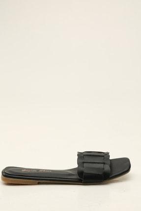 Ayakkabı Modası Siyah Kadın Terlik 1005-20-122007
