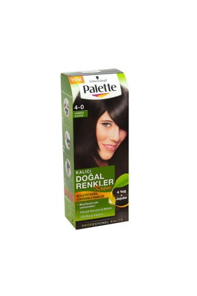 Palette Saç Boyası Natural 4-0 Amber Kahve