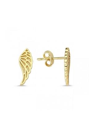 Altın Sepeti Kadın Sarı  Kanat Altın Küpe