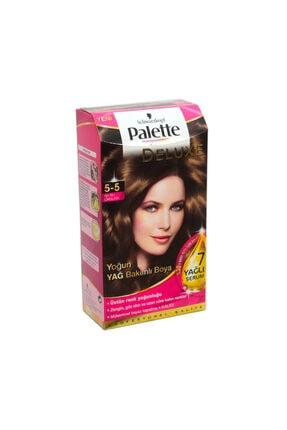 Palette Deluxe 5-5 Altın Parıltılı Çikolata Saç Boyası