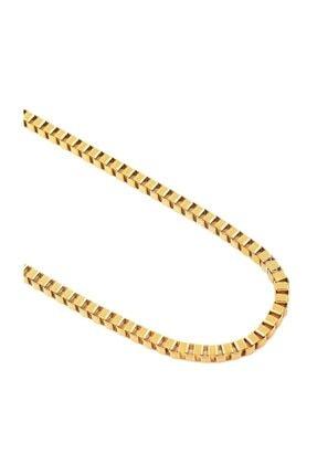 Chavin Sarı Gold 3 mm. 60 cm. Bayan-Erkek Çelik Zincir ds78