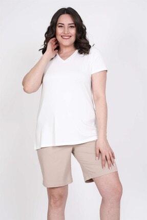 MYLİNE V Yakalı Tişört