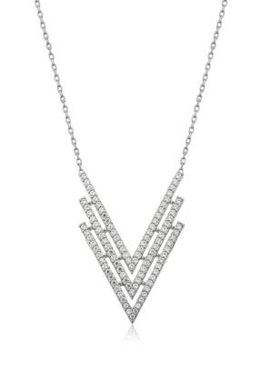 VAOOV 925 Ayar Gümüş Üçgen Kolye