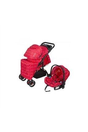 Pc409 Aloin Travel Sistem Bebek Arabası - Kırçıllı Kırmızı Cici1046
