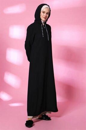 Armine Kadın Siyah Pardesü 20y8204