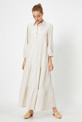 Kadın Uzun Kollu Gömlek Elbise 0YAK88668CW