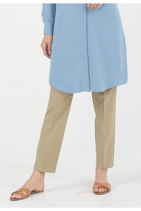 Setrms Kadın Küf Yeşili Streç Boru Paça Pantolon