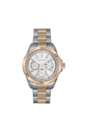 Quantum Kadın Beyaz Swarovski Taşlı Kol Saati Iml386.520