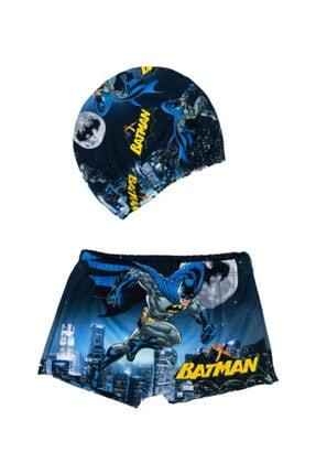 Batman Baskılı Çocuk Boxer Mayo - Bone Hediyeli