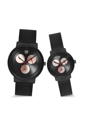 Ricardo Watch Çift Sevgili Unisex Siyah Saat Hasır Kordon (kutulu)