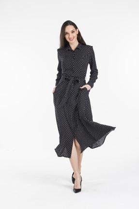 Pitti Kadın Siyah Puanlı Elbise 51103