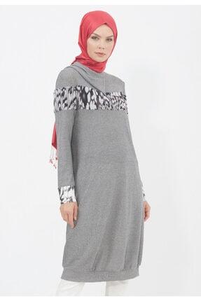 Setrms Kadın Gri Uzun Tunik