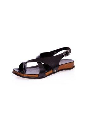 Muya Kadın Siyah 2 cm Parmak Arası Anatomic Sandalet