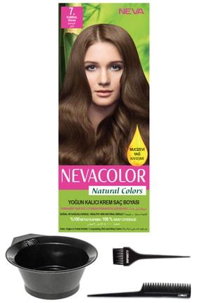 Neva Color Natural Colors 7. Kumral - Kalıcı Krem Saç Boyası Ve Saç Boyama Seti 7681655541391