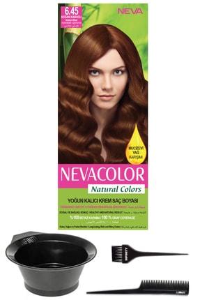 Neva Color Natural Colors 6.45 Soğan Kabuğu - Kalıcı Krem Saç Boyası Ve Saç Boyama Seti 7681655541779