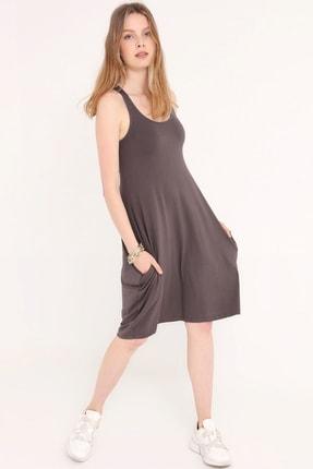 Home Store Kadın Antracıte Elbise 20250119055