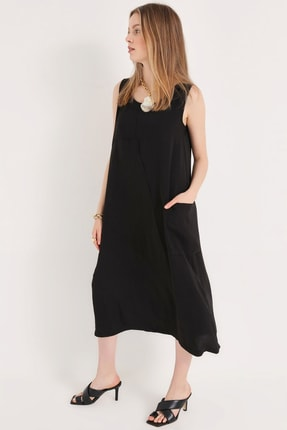 Home Store Kadın Sıyah Elbise 20240006075