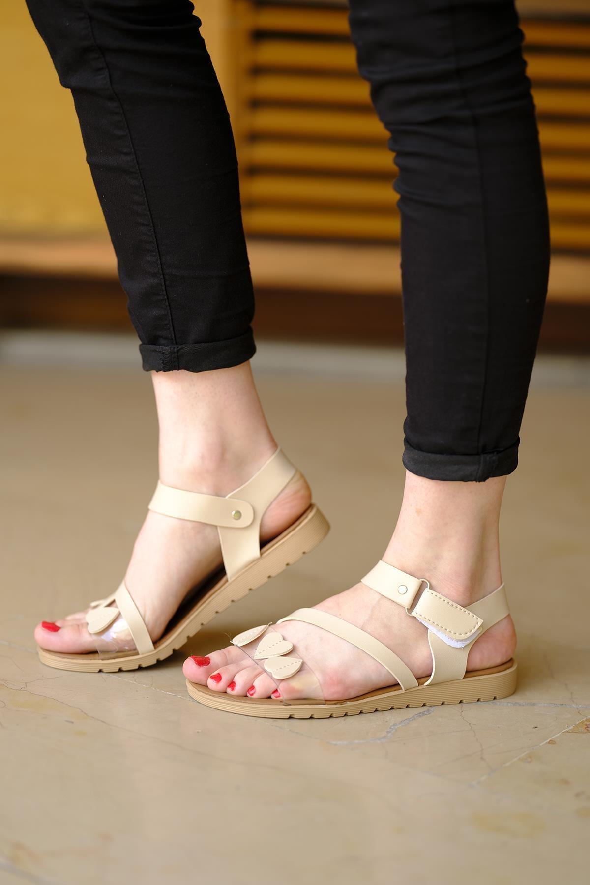Oksit Giyim Lili Kalpli Kadın Sandalet