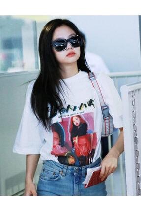 Köstebek Unisex Beyaz K-pop Black Pink Squareup T-shirt