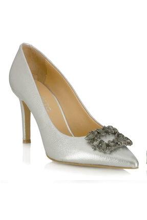POLETTO Kadı Topuklu Ayakkabı 4924 02 V24 Krıstal Gumus Suet 335 R7487-8.5cm