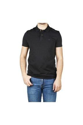 Cazador Erkek Likralı Polo Yaka Siyah Renk Tişört Caz 4638