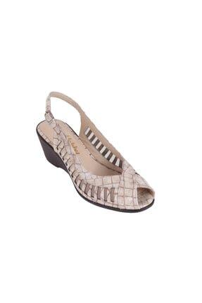 Hobby Kadın Bej Yazlık Sandalet Ayakkabı 369