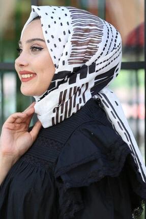 Afvente Kadın Beyaz Soft Pamuk Şal Sp4001