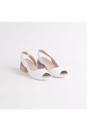 Dericlub Kadın Gerçek Deri Kare Topuk Sandalet Ayakkabı 640