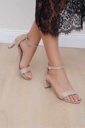 Shoes Time Kadın Bej Topuklu Ayakkabı