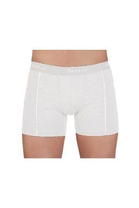 Berrak Erkek Beyaz Lycralı Strech Short Boxer