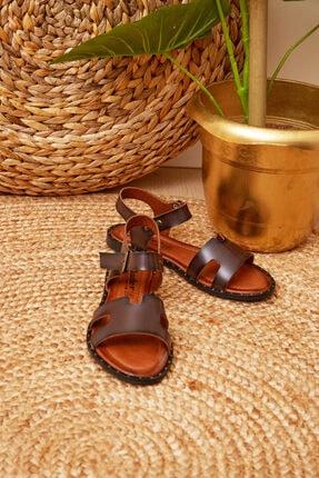 Shoes Time Kadın Kahverengi Sandalet 20y 924