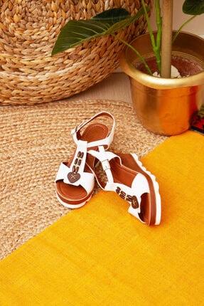 Shoes Time Kadın Beyaz Sandalet 20y 926
