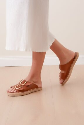 Shoes Time Kadın Kahverengi Terlik 20y 817