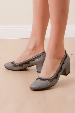 Shoes Time Kadın Gümüş Günlük Ayakkabı 19y 8637