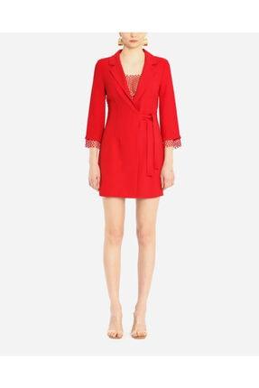 Ayhan Kadın Kırmızı Anvelop Bağcıklı Elbise