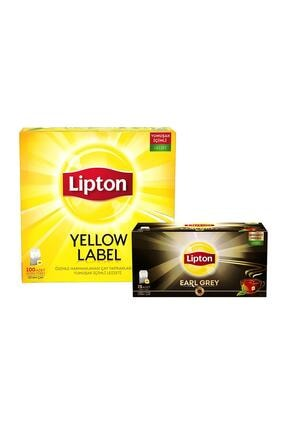 Yellow Label Bardak Poşet Çay 100'lü + Lipton Earl Grey Bardak Poşet Cay 25'li SET.UNİ.310