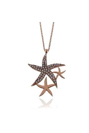 SilverPlus Kadın Rose Yıldızlar Gümüş Kolye