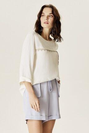 Naramaxx Kadın Beyaz Zincir Detaylı Bluz