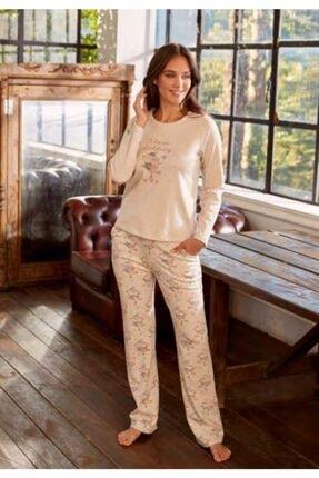 Eros 27552 Kadın Bej Pijama Takım