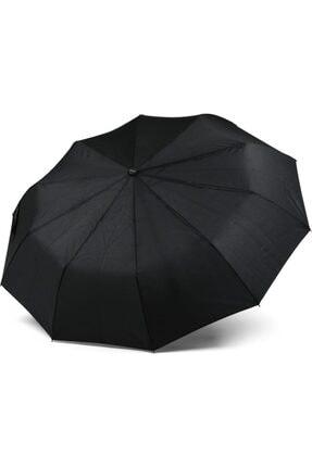 Almera J Tutmalı Tam Otomatik Katlanır Erkek Şemsiye, Siyah, 10 Telli PRA-2246782-2960