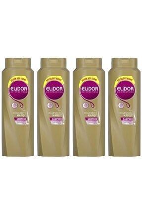 Elidor Saç Dökülmesine Karşı Bakım Şampuanı 650 ml 4 Adet