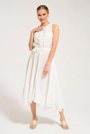 Batik Kadın Kemik Düz Casual Elbise