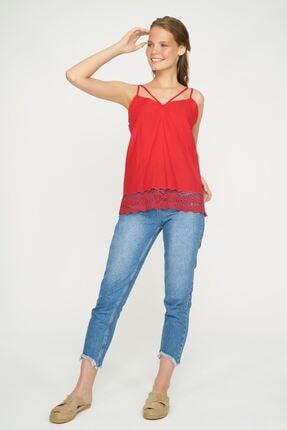 Batik Kadın Kırmızı Duz Casual Bluz Kkol Y10898