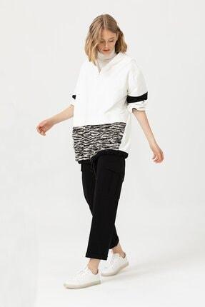 Seçil Kadın Kargo Cepli Siyah Pantolon 3052
